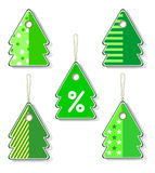 Xmas tags. Royalty Free Stock Photos