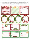 Xmas Tags. No more searching for Christmas tags, these may be printed over and over again. Best if printed on heavy paper or cardstock. Use a hole punch to punch royalty free illustration