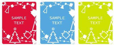 Xmas tags cards Stock Photography