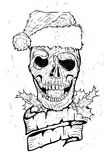 Xmas tattoo skull Royalty Free Stock Photography