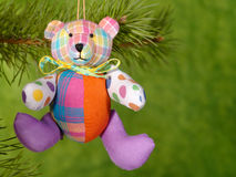 Xmas teddybear Stock Image