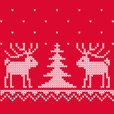 Xmas texture with deep for knitting Royalty Free Stock Photo