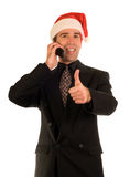 Xmas Thumbs Up Stock Photo