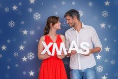 Xmas time couple Royalty Free Stock Image
