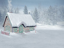 Xmas time,  santa's cottage Royalty Free Stock Images