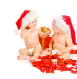 Xmas toddlers Stock Photos