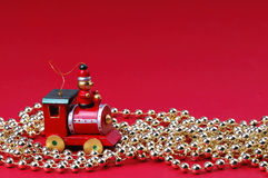 Xmas toy and collar Royalty Free Stock Images