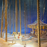 Xmas toys carousel Stock Photos