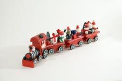 Xmas Train. Frosty puppet on white background Stock Images