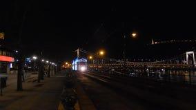 Xmas Tram in Budapest. stock footage