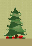Xmas Tree. Christmas Tree and colour background Stock Images