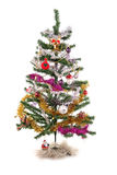 Xmas tree. Decorated Christmas tree isolated on white Stock Photo