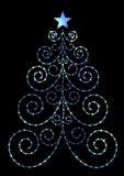 Xmas tree. Black xmas tree illustration background stock illustration