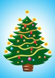 Xmas tree. For Christmas greetings Stock Photography