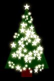Xmas tree. A modern square cut slant on a traditional christmas tree Stock Photography