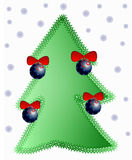 Xmas tree 2. Xmas tree decorated with beautiful baubles Stock Photography