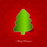 Xmas tree. Greeting card with christmas tree Royalty Free Stock Photos