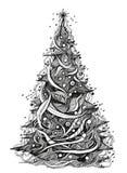 Xmas tree. Graphic xmas tree (series C Stock Photography