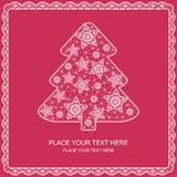 Xmas tree. Christmas tree for Xmas design. lace ribbon Royalty Free Stock Photography
