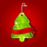 Xmas tree. Greeting card with christmas tree Royalty Free Stock Photos