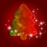 Xmas tree. Greeting card with christmas tree Stock Photography