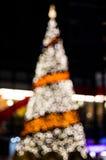 Xmas tree. With blur in the night Stock Photos