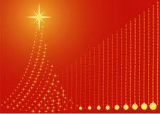 Xmas tree. Christmas / Xmas tree with baubles background Royalty Free Stock Image