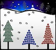 Xmas tree. Winter xmas trees in Royalty Free Stock Images