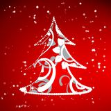 Xmas tree abstract background Stock Photography