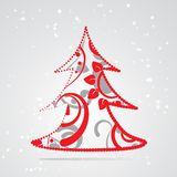 Xmas tree abstract background Stock Images