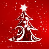 Xmas tree abstract background Stock Photo