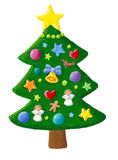 Xmas tree. Acrylic illustration of Xmas tree Stock Photo