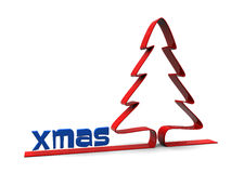 Xmas tree background Royalty Free Stock Photography