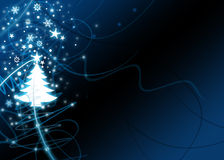 Xmas Tree Background. With stars and snowflakes Stock Photography