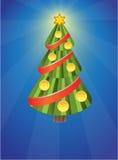Xmas tree with balls Royalty Free Stock Photos