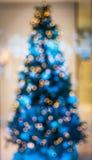 Xmas tree. With blur at  night Stock Photo