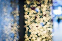 Xmas tree. With blur at  night Stock Image