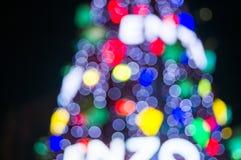 Xmas tree. With blur at  night Stock Photos
