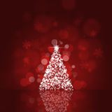 Xmas Tree and Bokeh Lights Stock Images