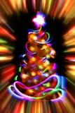 Xmas tree from the christmas lights Royalty Free Stock Photos