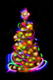 Xmas tree from the christmas lights Stock Photo