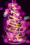xmas tree from the christmas lights Royalty Free Stock Photo