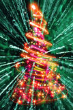 xmas tree from the christmas lights Royalty Free Stock Images