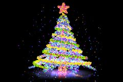 Pixel style xmas tree Stock Photo