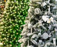 Xmas tree with decor closeup, new year Stock Photography