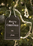 Xmas tree with decoration Royalty Free Stock Photo