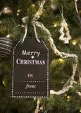 Xmas tree with decoration Royalty Free Stock Photo