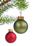 Xmas tree decorations Royalty Free Stock Image