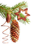 Xmas tree decorations Royalty Free Stock Photos