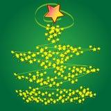Xmas tree design Royalty Free Stock Image